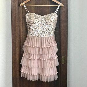 Sequined Semi Formal Mini Dress